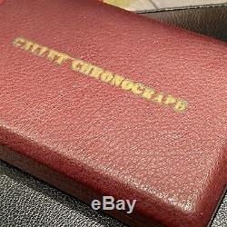 Very Rare Vintage Gallet Chronograph Watch Display Box Case Unusual Design L@@@k