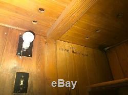 Vintage 1946 Porcelain Walk-In Refrigerator / Walkin Box / Cooler / Display Case