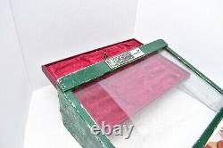 Vintage Buck Knives wood Counter Top store Display Case Box Glass Door ATQ