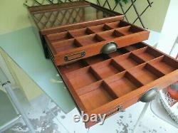 Vintage Display Case Rowney Art Materials Artists Box Collectors Drawers Cabinet