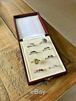 Vintage Multi Ring Box. Antique Jewelry Box. Jeweller Multiple Ring Display Case