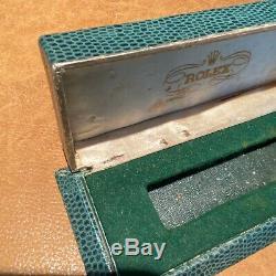 Vintage Rolex Snake Skin Design Coffin Watch Display Box Case Bubbleback Chrono