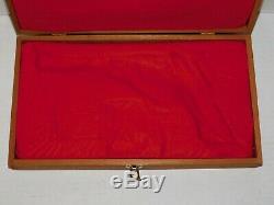 Vintage Smith Wesson Magnum Wood Presentation Gun Pistol Case Display Gift Box