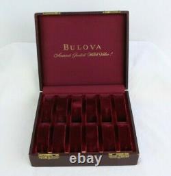 Vtg Bulova America's Greatest Watch Value Presentation Travel Display Case Box