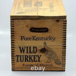 Vtg Rare Wild Turkey Pure Kentucky Bourbon Whiskey Display Case Wood Crate, Box
