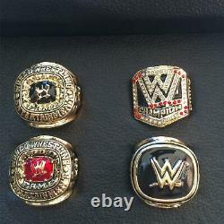 WWE World Wrestling Entertainment Hall Of Fame 4 Piece Ring Box Set Display Case