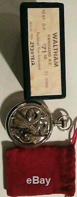 Waltham (1936) Vanguard 16S. 23 jewels Grade 1623 Waltham display case and box