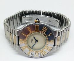 Women's Must de CARTIER 21 Quartz Watch. 30mm Case. Beige Dial. With display box