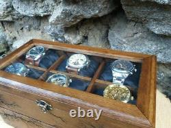 Wood Watch Box 12 Compartments Display Case Lichtenberg Figure