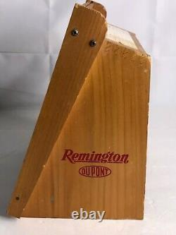 Wooden Remington 22 Cal Advertising Ammo Display Case Box HI-SPEED 1950s dupont