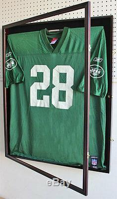 X Large Football Jersey Display Case Wall Frame Shadow box -UV, LOCKS, JC02-MAH
