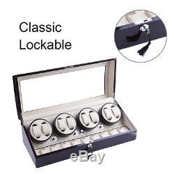 XTELARY Luxury Quad Automatic Rotation 8+9 Watch Winder Storage Case Display box