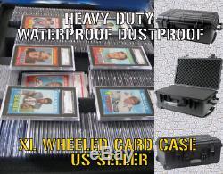 XXL Wheeled Graded Card Storage Box Display Case Holder Waterproof PSA