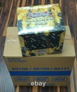 Yugioh Maximum Gold 1st Ed. Factory Sealed Case of 4 Display Boxes Free Shipping