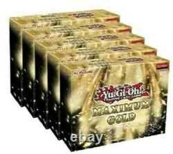 Yugioh Maximum Gold Display Case Sealed Booster Box 1st Edition Collector Set