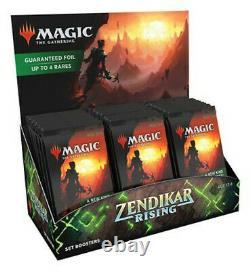 Zendikar Rising SET Booster Display Box CASE (6 boxes) Mtg Sealed English ZNR